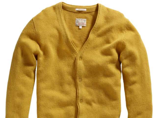 GANT Rugger gold cardigan