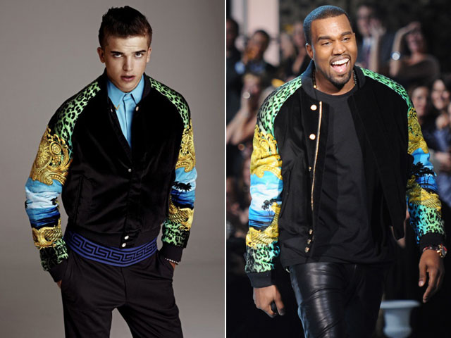 Kanye West wears Versace for H&M