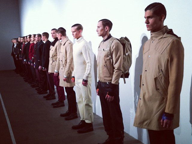 Tim Coppens, New York Fashion Week 2012