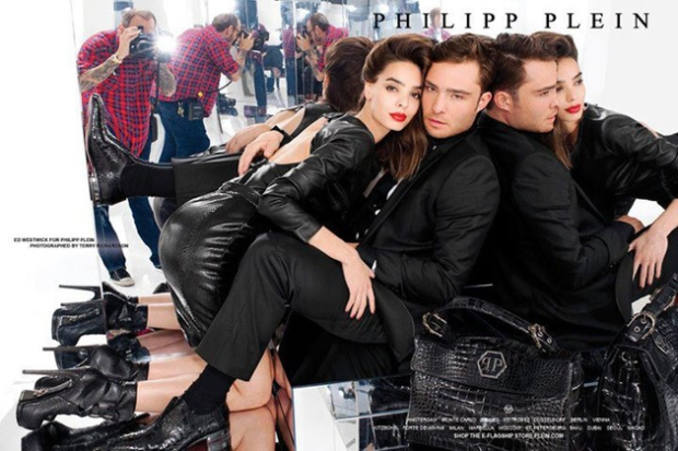Ed Westwick for Philipp Plein
